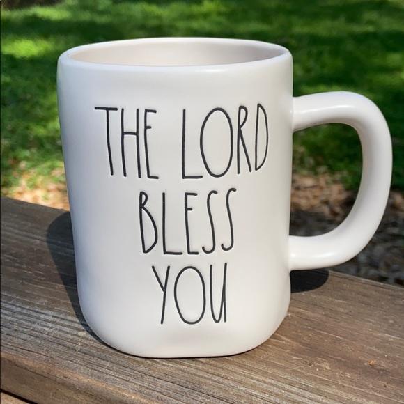 New Rae Dunn THE LORD BLESS YOU / AND KEEP YOU Mug